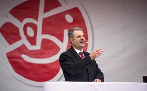 Näringsminister Ibrahim Baylan (S) talade.