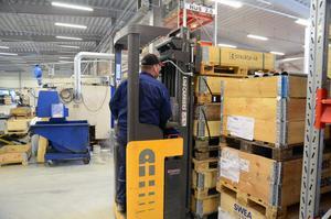 Med omflyttningen har de frigjort ytor för lager och har därmed fått en mycket bättre logistik för sina produkter.