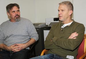 Jonas Norrby och Mårten Svensson, två av tre familjeläkare som finns med från start när den nya vårdcentralen öppnar på onsdag i Sollefteå.