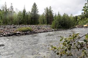 Stenvallarna som omgärdar Ljusnan kommer till stora delar att rivas ut vilket tillåter vattnet att bredda och fördjupas.