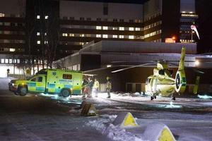 Mannen fördes till Sundsvalls sjukhus.