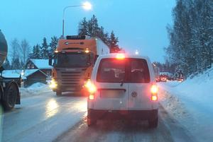 Larmet om olyckan kom klockan 14.37 på torsdagseftermiddagen. Foto: Läsarbild
