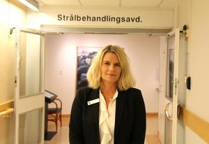– Vi har just nu kapacitet över och kan ta emot extrapatienter, säger Johanna Ågren, verksamhetschef, onkologin i Gävleborg.