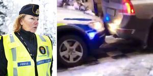 Strax efter klockan 14.30 kolliderade två polisfordon på gågatan Köpmangatan i centrala Örebro.