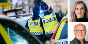 Av poliserna i region Bergslagen säger 69 procent att det inte finns tillräckligt med karriär- och utvecklingsvägar i den funktion som de arbetar i, skriver  Polisförbundets Lena Nitz och Per Andreasson. Foto: Johan Nilsson/TT,