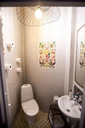 Toaletten är Linnéa mycket nöjd med.