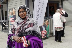 Jag är intresserad av politik och har röstat många gånger, berättar  Sahrow Shiekh Abdiyow. Hon vill också rösta i EU-valet.