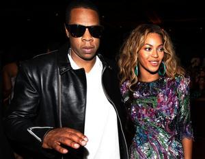 Bildtext: Jay-Z och Beyoncé väntar inte barn.