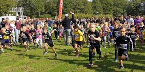 """De flesta barnen i Lilla Lasse-Majaloppet satsade på taktiken """"full fart från start""""."""