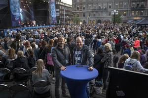 Peter Åström på Creativevent AB och Patrik Frisk på Ninetone är arrangörer av Sundsvall Bjuder. Bilden är tagen vid ett tidigare tillfälle.