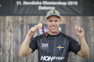 Ferry Svan blev på lördagen nordisk individuell mästare i Timbersports.  Foto: Privat