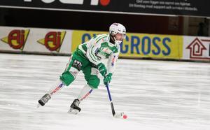 Simon Folkesson gjorde säsongens första mål mot Motala i 10–6-segern.