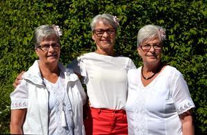 Maj-Britt Nironen, Inga-Britt Åström och Gun-Britt Åström fyller 70, vilket firas på Alnö där trillingarna växte upp.