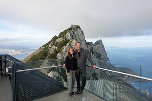 Vid Gibraltarklippan tar Europa slut, och där vände också Tina och Bengts resa. (Privat bild)