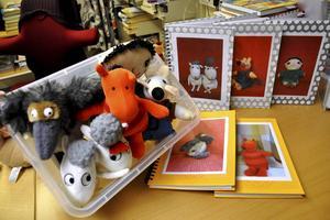 När DT besökte biblioteket fanns samtliga gosedjur och skrivböcker inne. Men Maria Höglund Boberg räknade med att de skulle vara utlånade redan dagen efter.