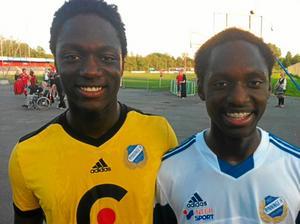 Ismail Diawara (till vänster) med brorsan Tidjani.