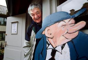 Gunnar Persson och hans figur Kronblom.