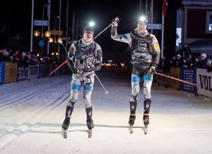 Lag Försvarmakten: Christofer Eriksson och Oskar Brandt från Östersund var först i mål.