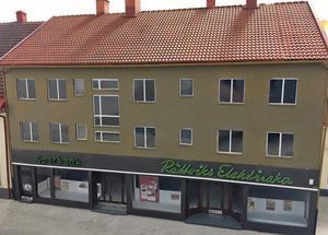 Sparbanken och Rättviks Elektriska på Storgatan.