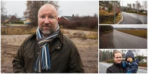 Johan Schönbeck med fler föreslår att gamla förskoletomten, skogen norr om Björnstigen och norra åkern bebyggs. Erik Larsson ser både för- och nackdelar med att Ekeby växer.