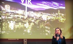 Landsbygdsminister Jennie Nilsson fanns också på plats i Örnsköldsvik.