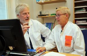 Mats Åström och Pia Lundin  vid Sollefteå sjukhus är förstås stolta, tillsammans med övriga personal, över resultatet i SKL:s patientenkät.