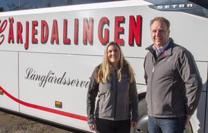Resenärerna visar en ökad miljömedvetenhet enligt Kristina Thunell och Robert Mohlin. En majoritet av Mohlins bussar körs på fossilfritt bränsle.