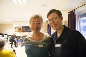 Projektledare Jannie Pevik och fysioterapeuten Monica Bergström tycker att de ser stor skillnad på deltagarna sedan de började.