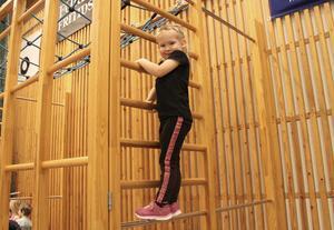 Nadja Westling, 3, klättrade högt i onsdags kväll. Nästan väl högt i mamma Marzenas smak.