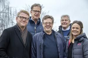 Björn Axell och Janne Setterberg presenterade årets stipendiater, Christer Johansson och Alfta GIF handbolls Thomas Mogren och Marlene Ljung.