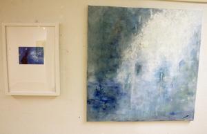 Liselotte Fluhr är som bäst när hon målar stort och abstrakt. Dessa heter