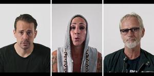 Fredric Fendrich, lagkapten J-Södra, Dregen, artist och Uno Sveningsson, artist är med i videon.