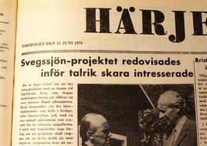 Byggandet av Svegsdammen i Ljusnan engagerade.