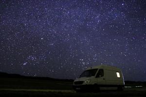 Stjärnhimmel över vanen i Sardinien. Foto: Sandra Piitulainen
