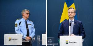Rikspolischef Anders Thornberg och inrikesminister Mikael Damberg medverkar vid dagens pressträff.