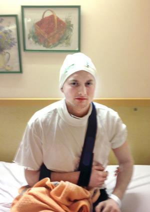 Daniel Rexin befinner sig på Hudiksvalls sjukhus för vidare undersökningar.