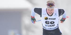 Jens Burman vann första loppet under skidpremiären i Gällivare.