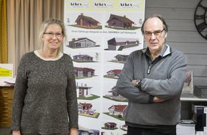 Fjällstugor, villor och lägenheter, paret Arnesson har levererat många olika hus genom åren.