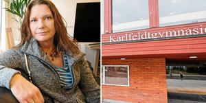 Oroväckande besparingar på Karlfeldtgymnasiet, anser  Pia Boiardt, lokalombud LR vid Karldfeldtgymnasiet. Foto: Jessica Andersson/DT arkivmontage