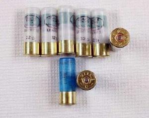 Hagelbössan var laddad med åtta skott, ett i loppet. Foto: Polisen