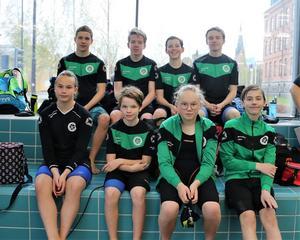 Övre raden: Gustaf Sandström, Viggo Reit, Sebastian Pettersson, Anton Sölveskog. Nedre raden: Agnes Jonasson, Gustav Hedin, Alva Käller, Linus Almberg.