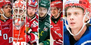 Samtliga representanter i Adam Johanssons profilfemma i SCA-cupen. Foto: Bildbyrån//Hockeypuls.