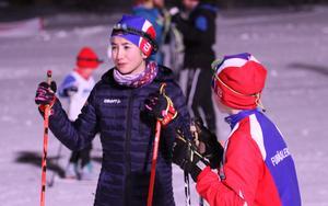 Ungdomar från Funäsdalens IF passade på att delta i Fjällturens vinterarrangemang. Foto:Per Jarefjord