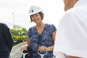 Kommunalråd Marie Centerwall är positiv till den nya etableringen i Bollnäs.