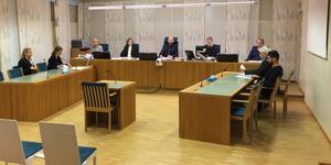 Raad al-Duhan i tingsrättssalen där han dömdes för dödshotet mot Gefle Dagblads chefredaktör Anna Gullberg.