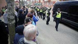 Cirka 170, mellan 150 och 200 gick i NMR:s demonstration i Ludvika.