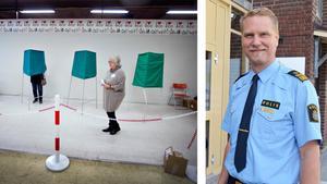 Polisens Josef Wiklund och kommunerna jobbar för att söndagens val ska kunna genomföras tryggt utan några ordningsstörningar i vallokalerna.