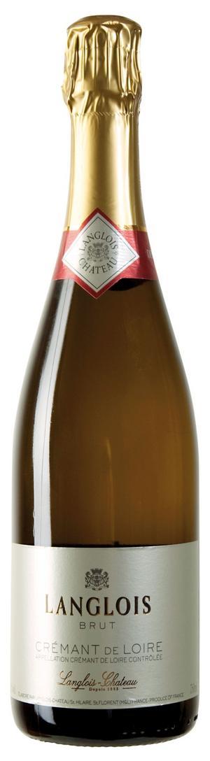 Härligt bubbel. Langlois Crémant de Loire Brut är ett utmärkt franskt bubbelalternativ till äkta champagne.