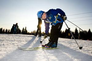 Malte, 5 år, tävlar för Domnarvets GoIF,. En mycket ung åkare som satsar helhjärtat på sin sport. Mycket roligt har han också!