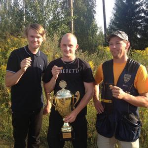 Segrarna i lagtävlingen Linus Mellgren, David Sandelin och Henric Jansson